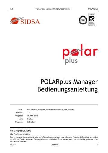 POLARplus Manager Bedienungsanleitung - Teracue