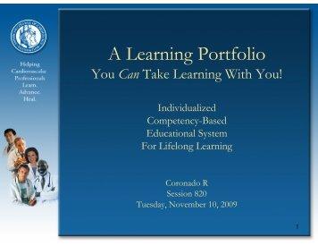 A Learning Portfolio