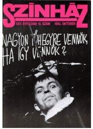 a színikritikusok díja 1991/92 1 1992. október - Színház.net