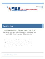 Desk Review - PANCAP- Pan Caribbean Partnership against HIV ...