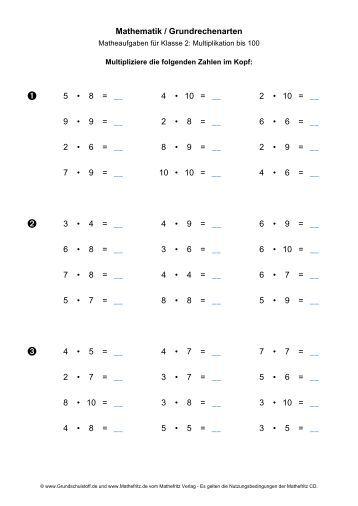 Mathematik / Grundrechenarten: Multiplizieren bis 1000 - Mathefritz