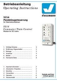 5214 Commuter Train Control - Viessmann Modellspielwaren GmbH