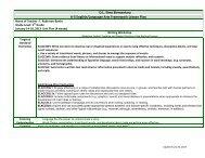 DL Sims Elementary K-5 English/Language Arts Framework Lesson ...