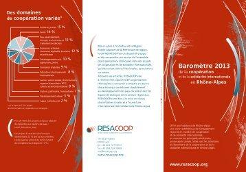Découvrez le Baromètre 2013 des actions de ... - Resacoop