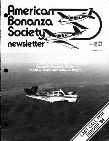 June 1984 - American Bonanza Society