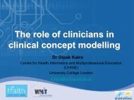 The role of clinicians in clinical concept modelling - World of Health IT