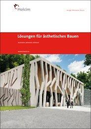 Lösungen für ästhetisches Bauen (PDF, 6MB) - Holcim Schweiz