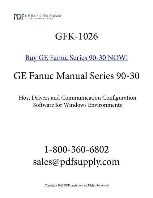 GFK-1026 PDF GE Fanuc PLC Manual Series 9030 PDF