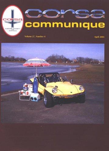 Corsa Communique, April 2005 - Bimelliott.com