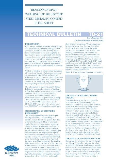 TECHNICAL BULLETIN TB-21 - BlueScope Steel