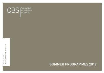 Summer Programm 2012