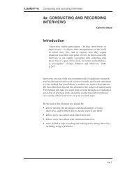 Element 4a - Conducting and recording interviews by Katherin - PGCE