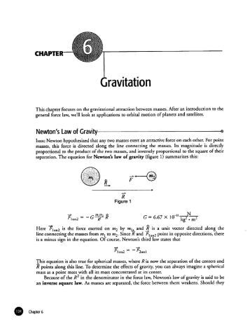UNIVERSAL GRAVITATION Worksheet (and Quiz)