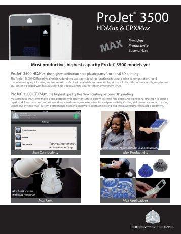 ProJet 3500 Max US - Professional 3D Printers