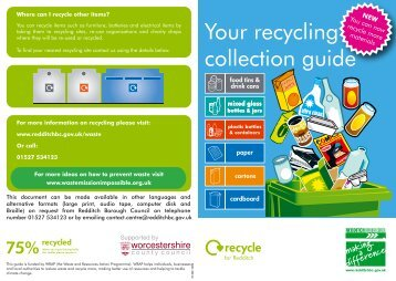 to view recycling guide 201 - Redditch Borough Council