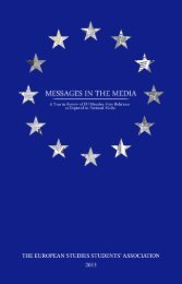 Messages in the Media 2013 - The European Studies Students ...