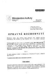 Opravné rozhodnutí ze dne 22.8. 2012, č.j. MK 53700/2012 OPP