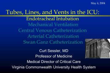 Endotracheal Intubation - Virginia Commonwealth University
