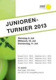 JUNIOREN- TURNIER 2013