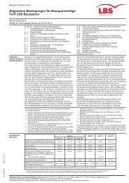 Allgemeine Bedingungen für Bausparverträge Tarif LBS-Bausparen