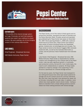 Pepsi Center Case Study 1.10.11
