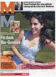 Page 1 Page 2 Page 3 Migros-Magazin 35. 24. August 2009 l s Luis ...