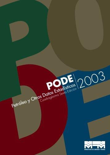 PODE 2003 - Ministerio del Poder Popular de Petróleo y Minería