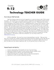 Technology TEACHER GUIDE - Cosi