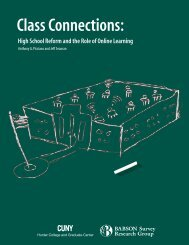 Class Connections: High School Reform and the ... - Babson College