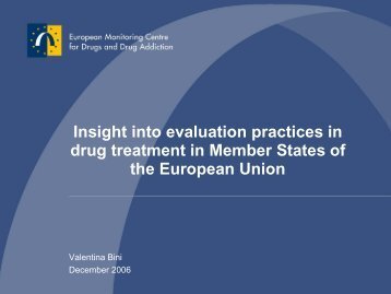 Insight into evaluation practices in drug treatment in ... - Dronet