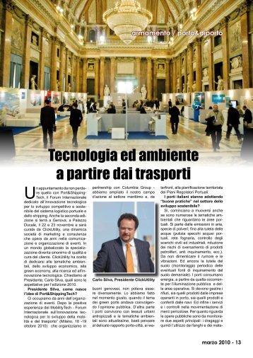Tecnologia ed ambiente a partire dai trasporti - Porto & diporto