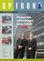 Finansielle udfordringer løses lokalt - Upfront Sport & Marketing
