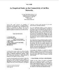 An empirical study on the connectivity of ad hoc ... - Netlab - Caltech