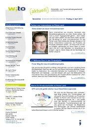 2011 - Ausgabe 1 - Wirtschafts- und Tourismusfördergesellschaft ...