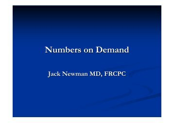 Numbers on Demand
