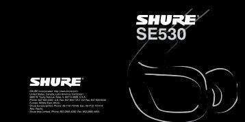 Shure SE530 User Guide German