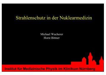 Strahlenschutz in der Nuklearmedizin - Deutsche ...