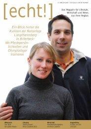 [echt!] - Ausgabe 1/2014 -  Das Magazin für den Kreis Coesfeld