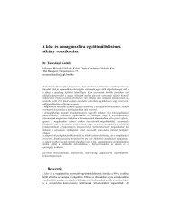 A köz- és a magánszféra együttműlödésének néhány vonatkozása
