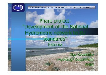 """Phare project: """"Development of the National Hydrometric ... - INBO"""