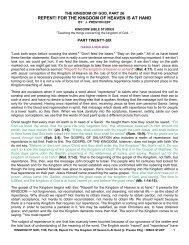 THE KINGDOM OF GOD - Preach The Kingdom Network