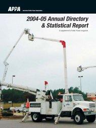 2004-05 Annual Directory & Statistical Report - American Public ...