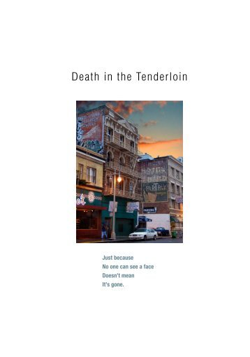 Death in the Tenderloin - San Francisco Study Center