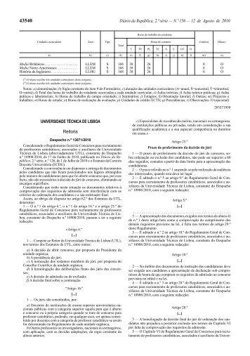 Regulamento Geral de Concursos para recrutamento de ...