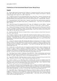 Trial IX specific publication list - IBCSG