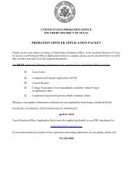 Probation Officer Application Packet - Southern District of Texas
