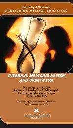 internal medicine review and update 2009 - University of Minnesota ...