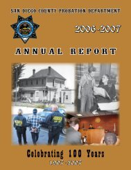 Annual Report 2007 - County of San Diego