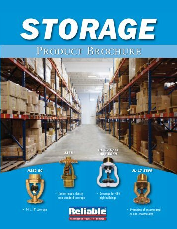 Storage Brochure - Reliable Automatic Sprinkler Co.