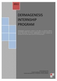 dermagenesis internship program - School of Business & Law, KDU ...